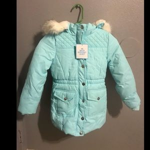 (Justice) girls water resistant jacket 6/7
